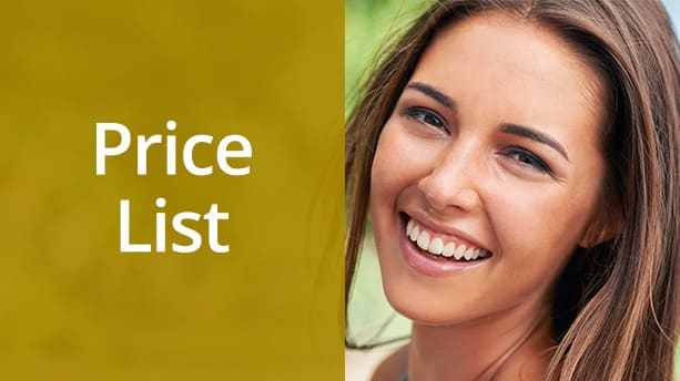 Middleton Bank Dental Price List